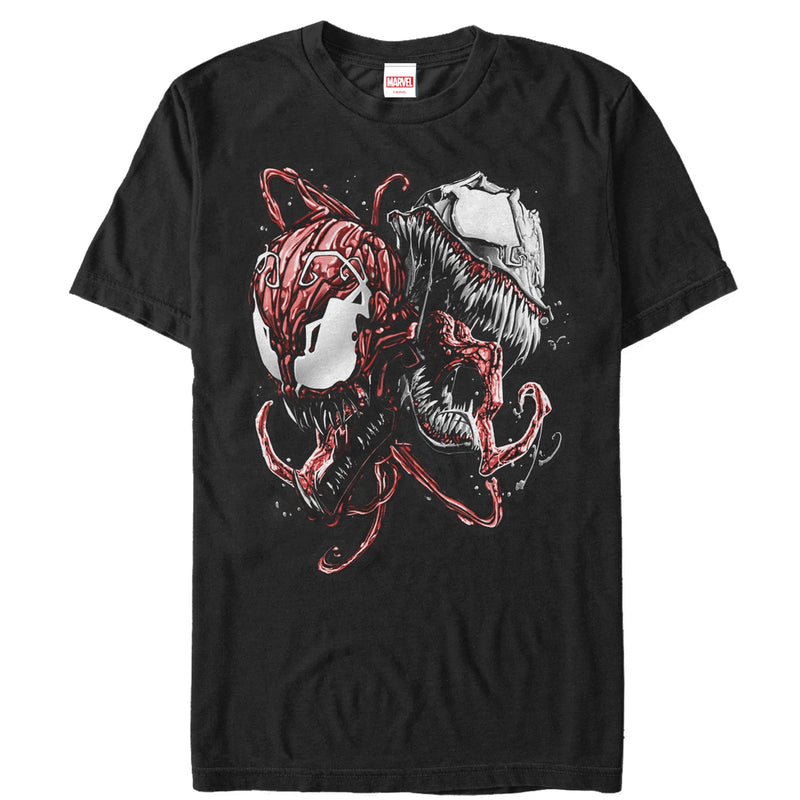 Marvel Men's Carnage and Venom  T-Shirt  Black  3XL