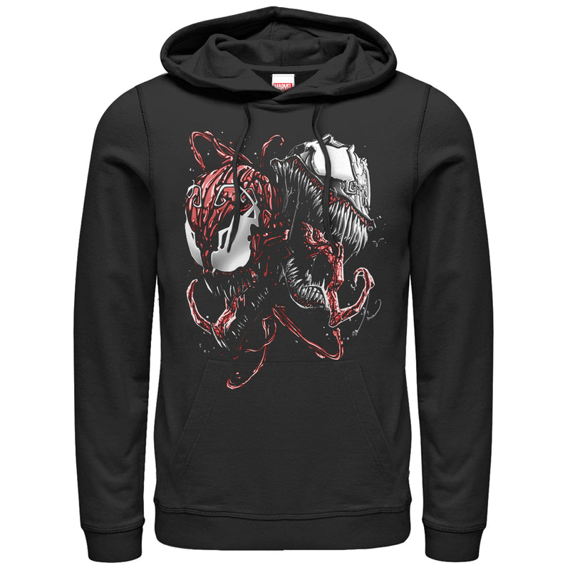 Marvel Carnage and Venom Mens Graphic Lightweight Hoodie