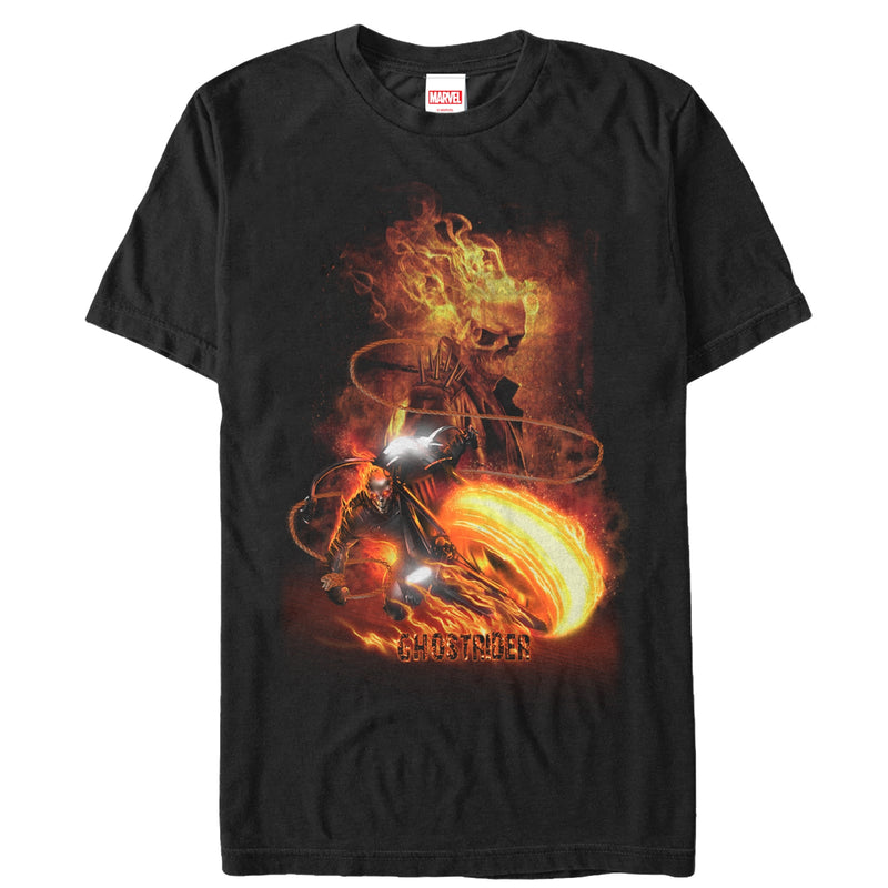 Marvel Ghost Rider Fire Fury Mens Graphic T Shirt