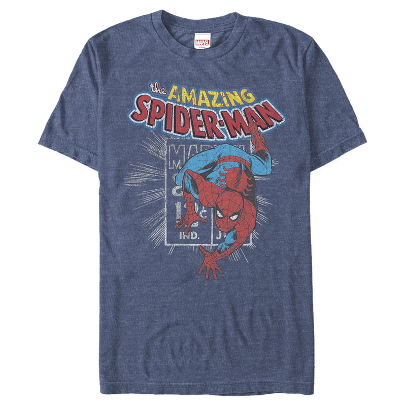 Marvel Spider-Man Comic Book Cent Mens Graphic T Shirt