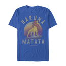 Lion King Men's Simba Hakuna Matata  T-Shirt  Royal Blue  M