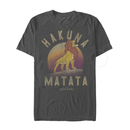 Lion King Men's Simba Hakuna Matata  T-Shirt  Charcoal Heather  M