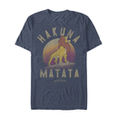 Lion King Men's Simba Hakuna Matata  T-Shirt  Navy Blue Heather  M