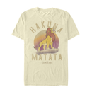 Lion King Men's Simba Hakuna Matata  T-Shirt  Cream  M