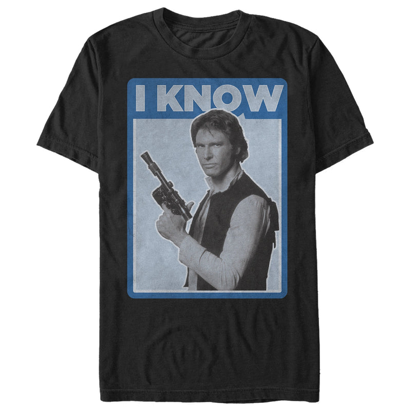 Star Wars Han Solo Quote I Know Mens Graphic T Shirt