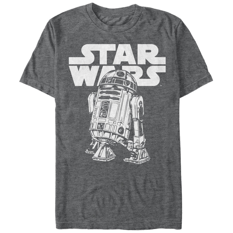 Star Wars Men's R2-D2 Classic Pose  T-Shirt  Charcoal Heather  S