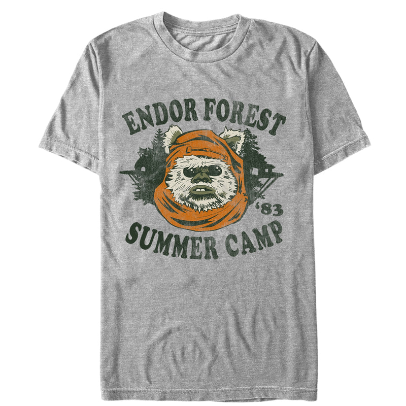Star Wars Men's Ewok Summer Camp  T-Shirt  Athletic Heather