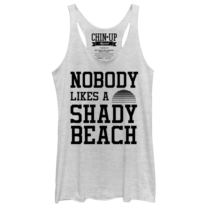 CHIN UP Shady Beach Womens Graphic Racerback Tank