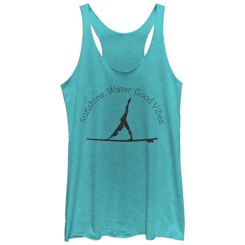 CHIN UP Women's Sunshine Water Yoga  Racerback Tank Top