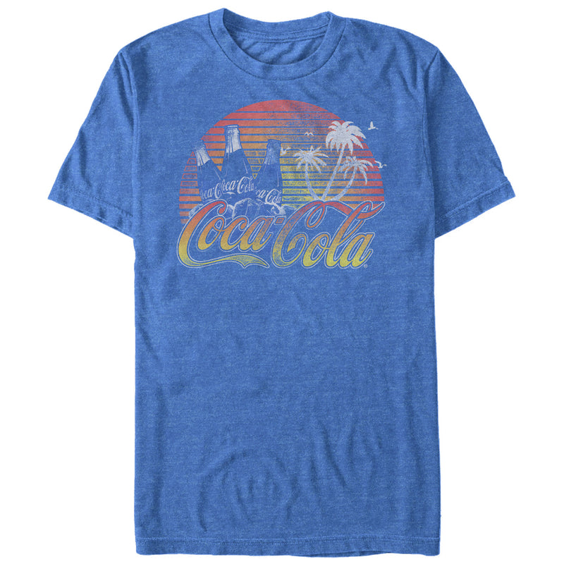 Coca Cola Tropical Vibe Mens Graphic T Shirt