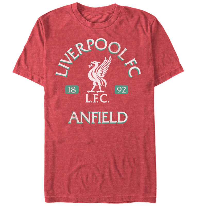 Liverpool Football Club Men's Anfield Logo  T-Shirt  Red Heather  L