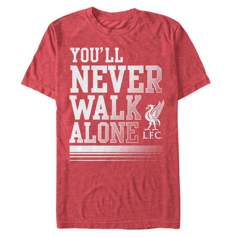 Liverpool Football Club Men's Never Walk Alone  T-Shirt  Red Heather  3XL