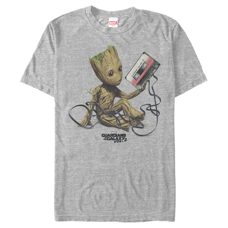 Marvel Guardians Of The Galaxy Vol. 2 Groot Tape Portrait Mens Graphic T Shirt