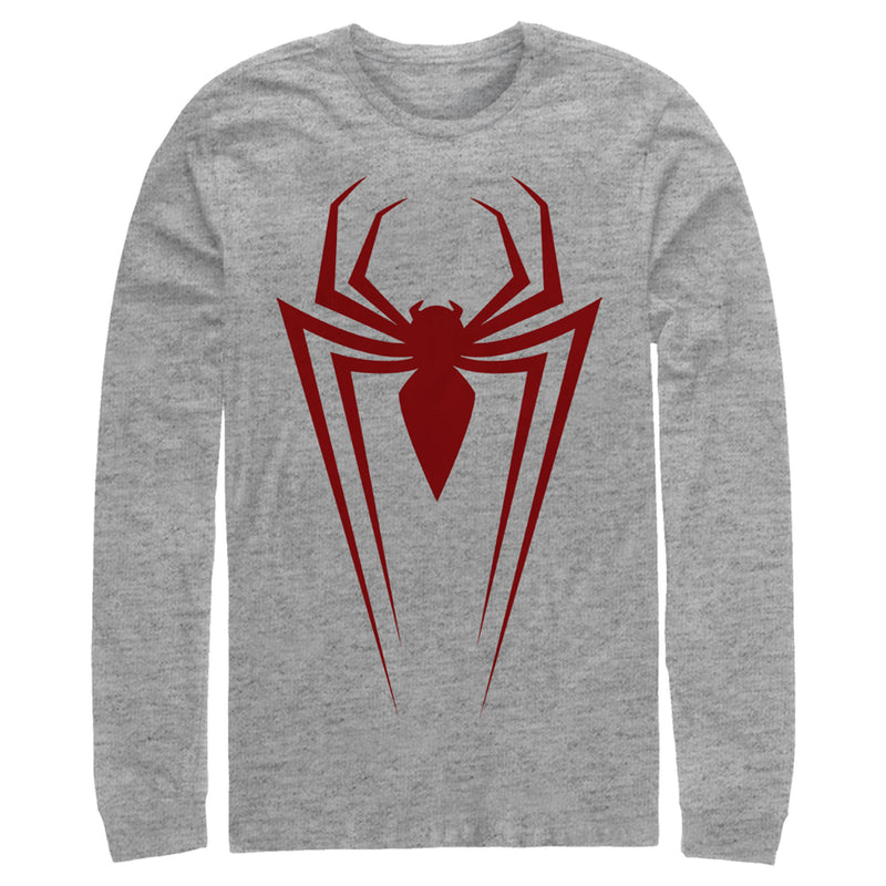 Marvel Spider-Man Icon Badge Mens Graphic Long Sleeve Shirt