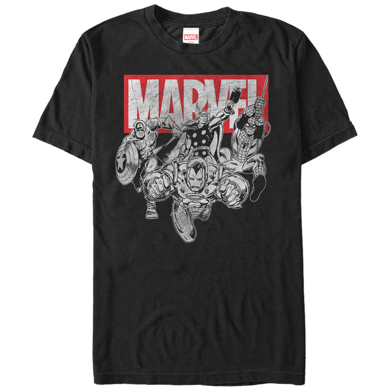 Marvel Avengers Ready Mens Graphic T Shirt