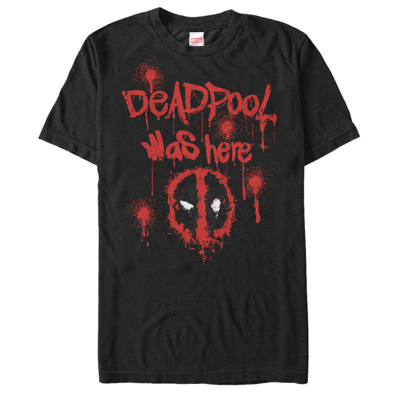 Marvel Deadpool Was Here Mens Graphic T Shirt