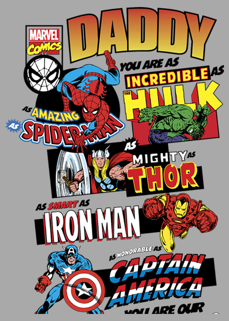 Marvel Men's Ultimate Dad Compilation  T-Shirt