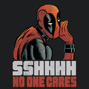 Marvel Men's Deadpool No One Cares  T-Shirt