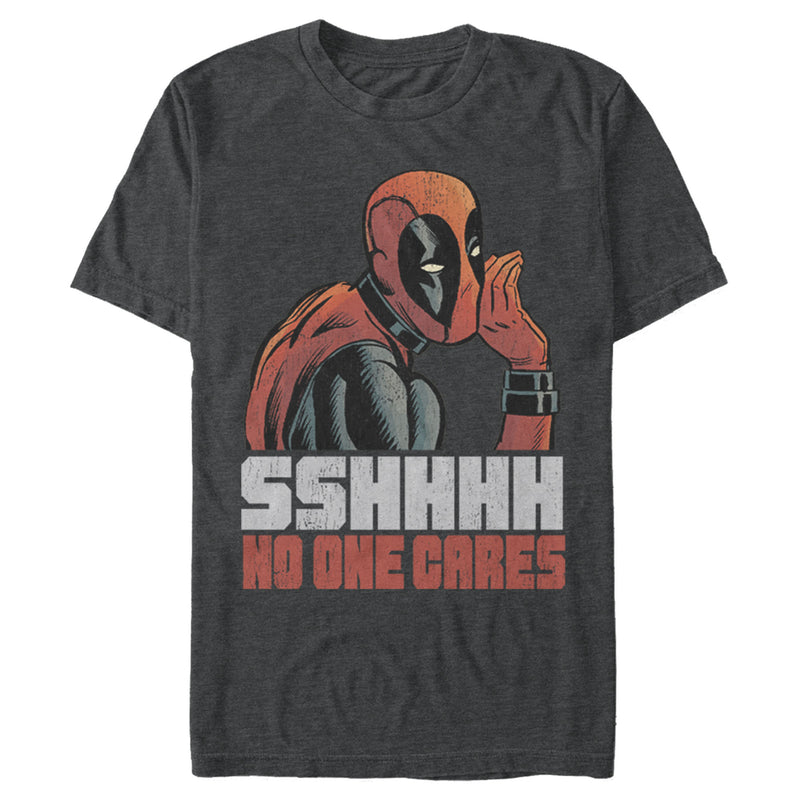 Marvel Deadpool No One Cares Mens Graphic T Shirt
