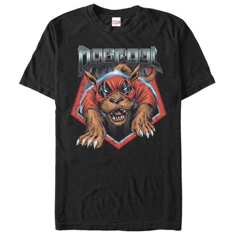 Marvel Dogpool Paws Mens Graphic T Shirt