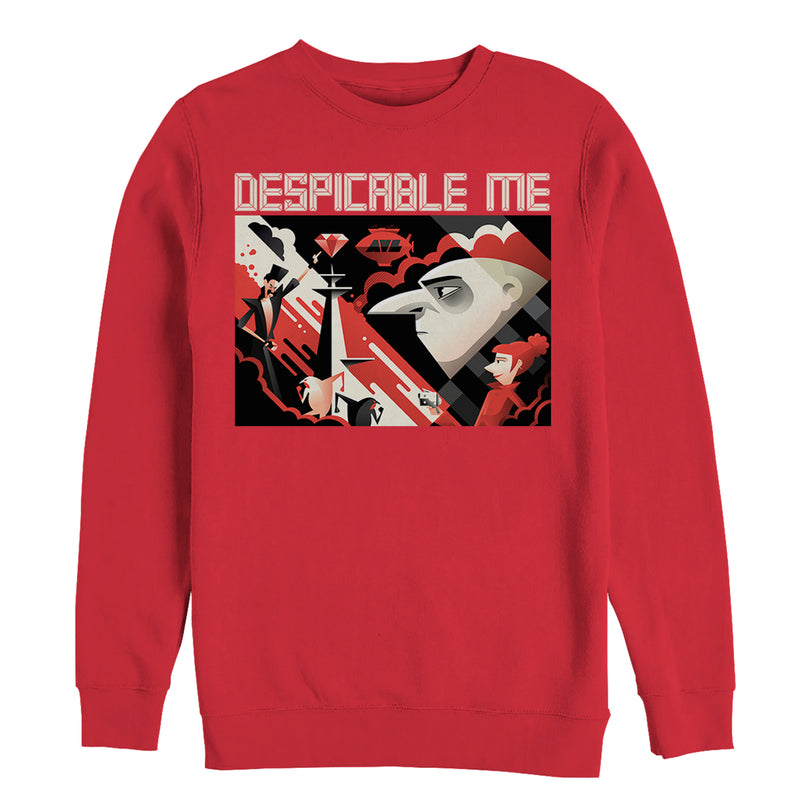 Despicable Me 3 Modern Gru Scene Mens Graphic Sweatshirt