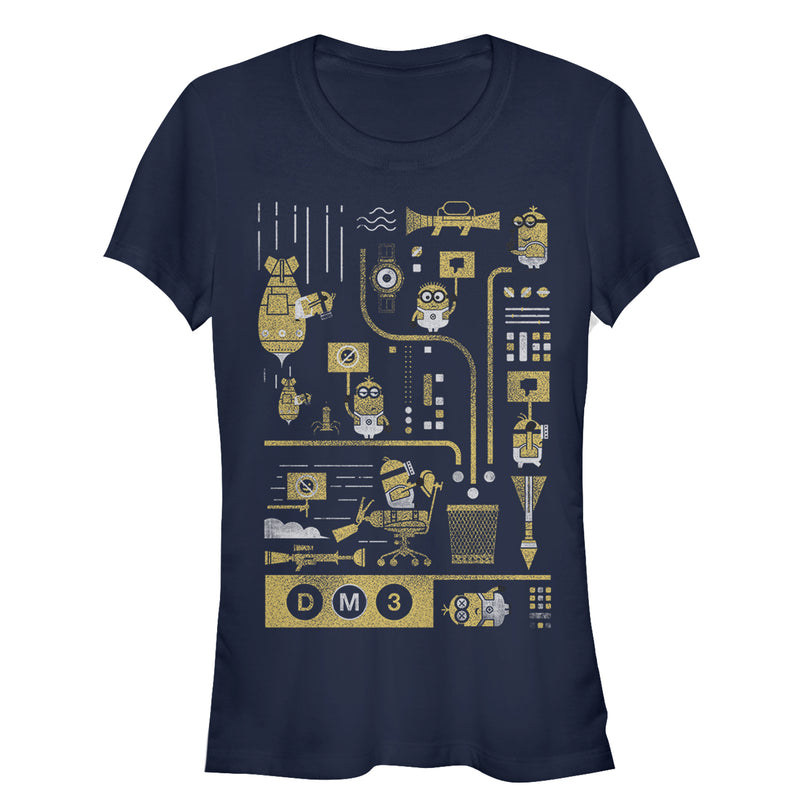 Despicable Me 3 Minion Lab Work Juniors Graphic T Shirt