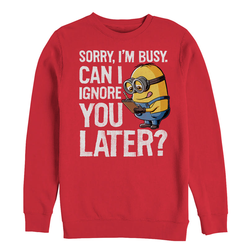 Despicable Me Minion Ignore You Later Mens Graphic Sweatshirt