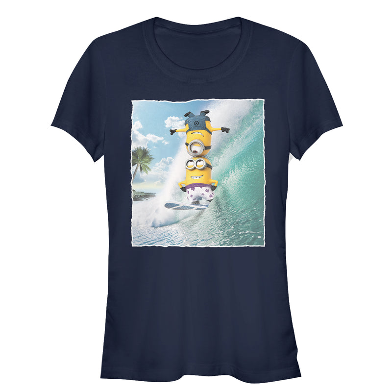 Despicable Me Minion Surf Tricks Juniors Graphic T Shirt