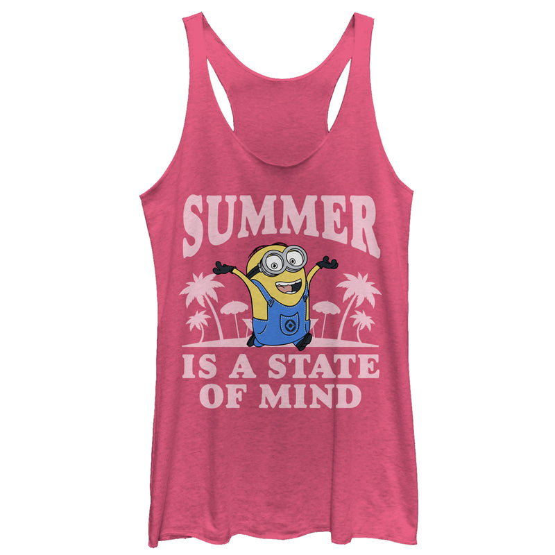 Despicable Me Minion Summer State of Mind Womens Graphic Racerback Tank
