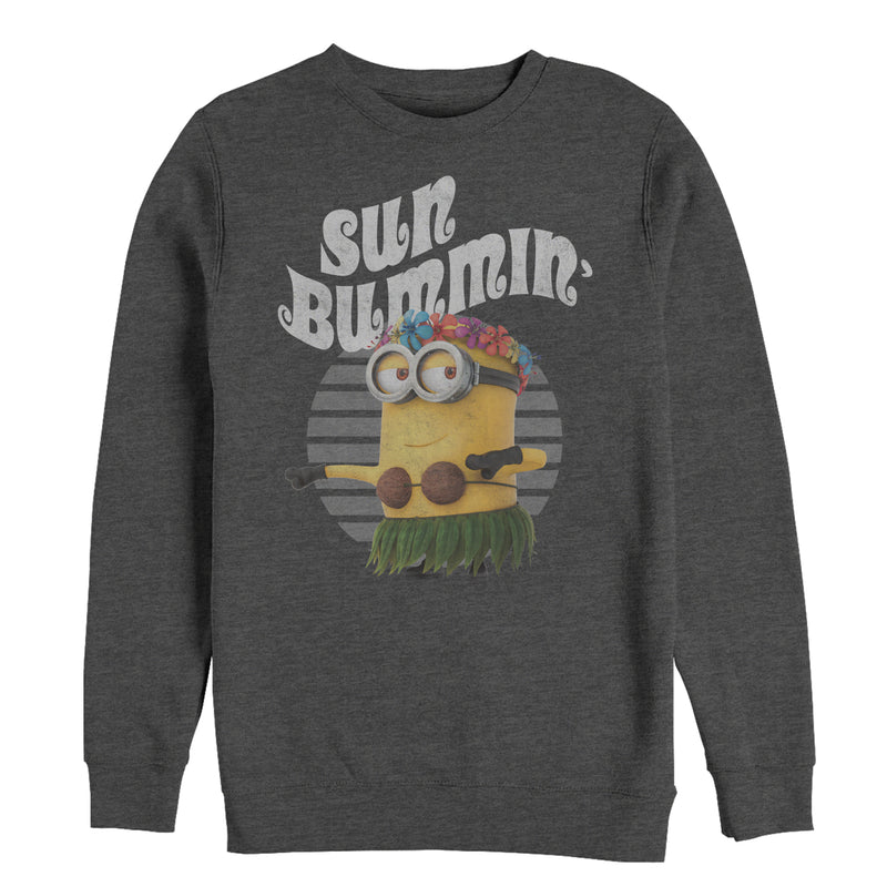Despicable Me Minion Sun Bummin' Hula Mens Graphic Sweatshirt