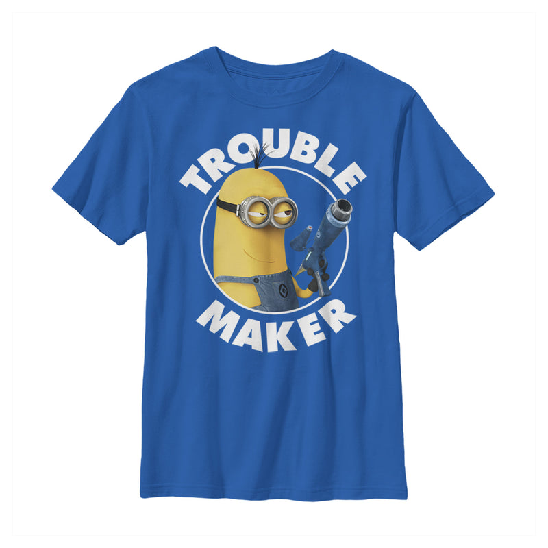 Despicable Me Minion Trouble Maker Boys Graphic T Shirt