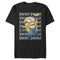 Despicable Me Men's Minions Banana Repeat  T-Shirt  Black  2XL