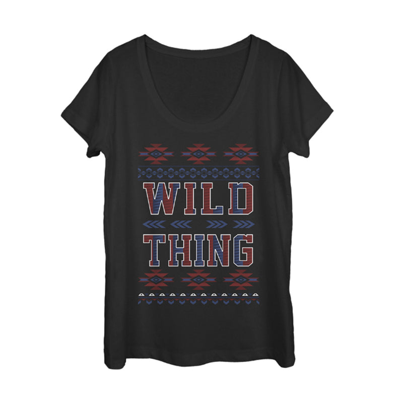Lost Gods Wild Thing Tribal Print Womens Graphic Scoop Neck