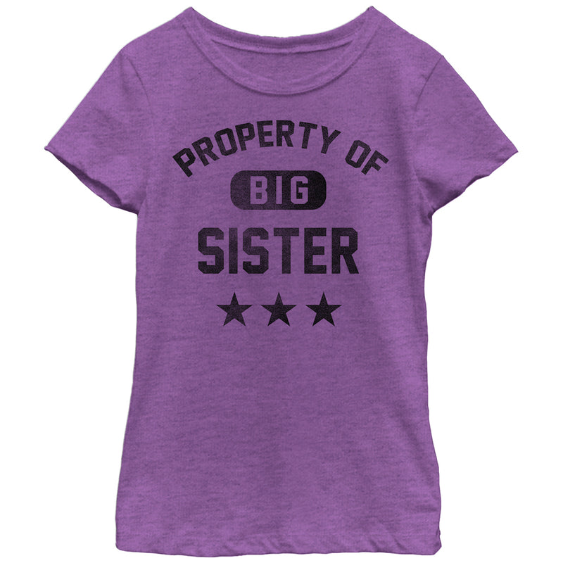 Lost Gods Girl's Property of Big Sister  T-Shirt  Purple Berry  M