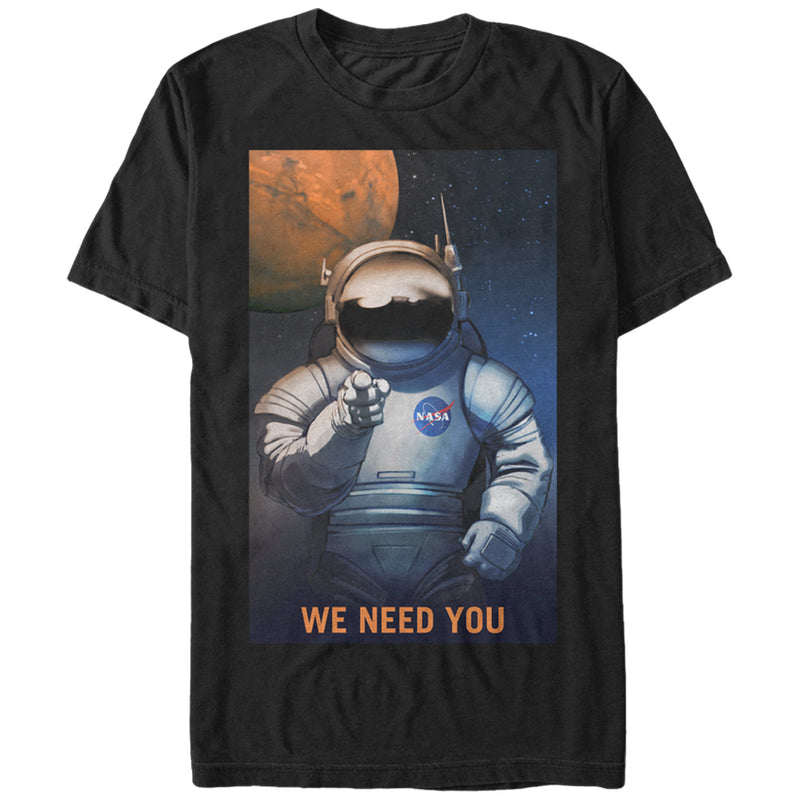 NASA Mars Needs You Mens Graphic T Shirt