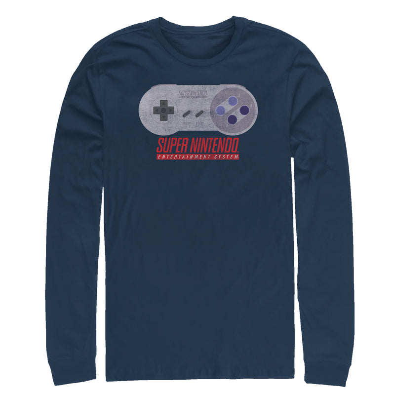 Nintendo SNES Controller Mens Graphic Long Sleeve Shirt