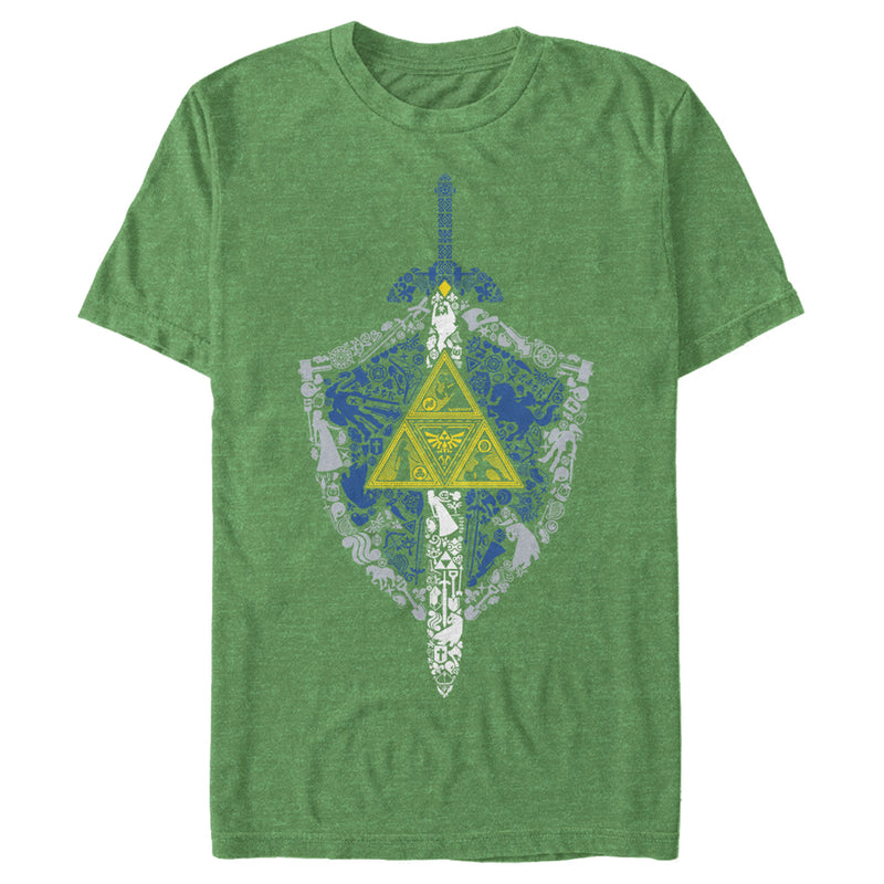 Nintendo Men's Legend of Zelda Hidden Pattern  T-Shirt  Kelly Heather  M