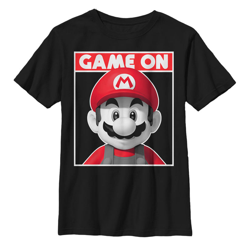 Nintendo Game On Mario - Boys Graphic T Shirt