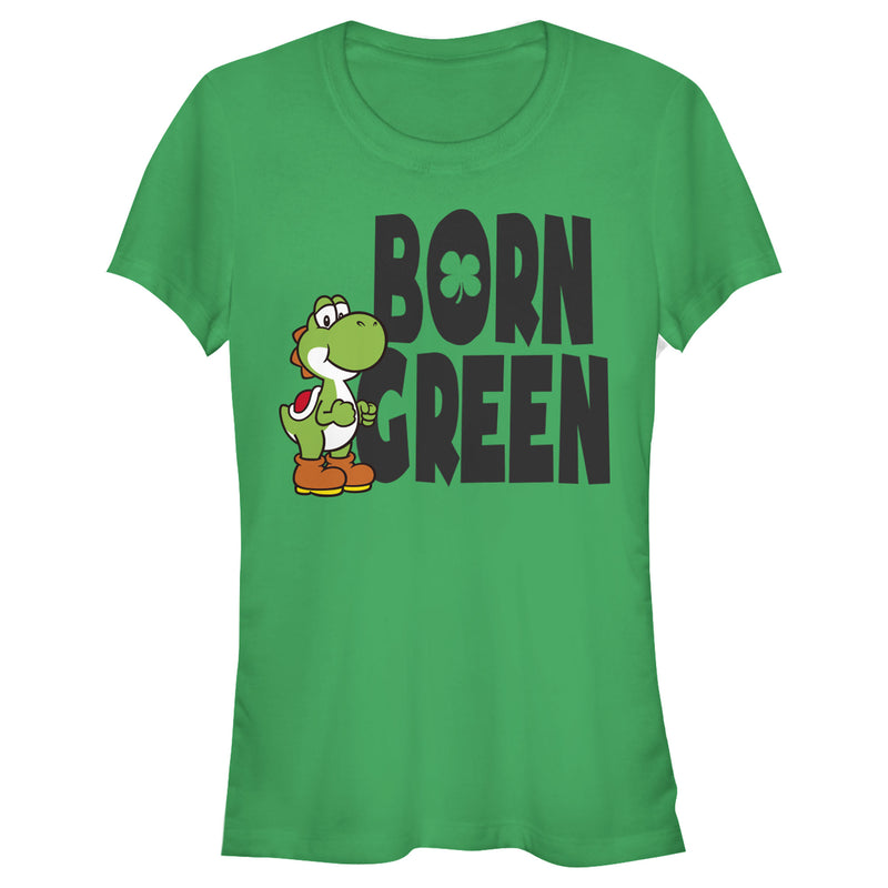 Nintendo Junior's Super Mario Yoshi St. Patrick's Born  T-Shirt  Kelly Green  2XL