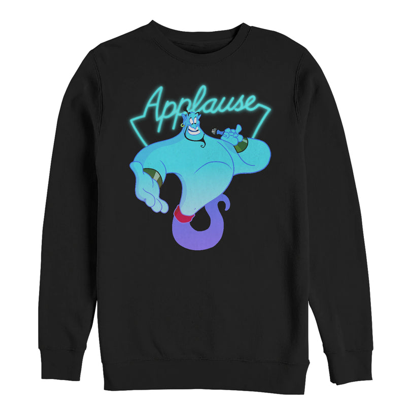 Aladdin Men's Genie Applause  Sweatshirt  Black  3XL