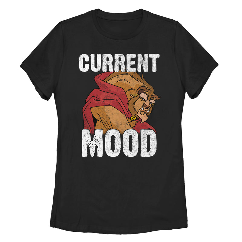 Beauty and the Beast Women's Current Mood  T-Shirt  Black  M