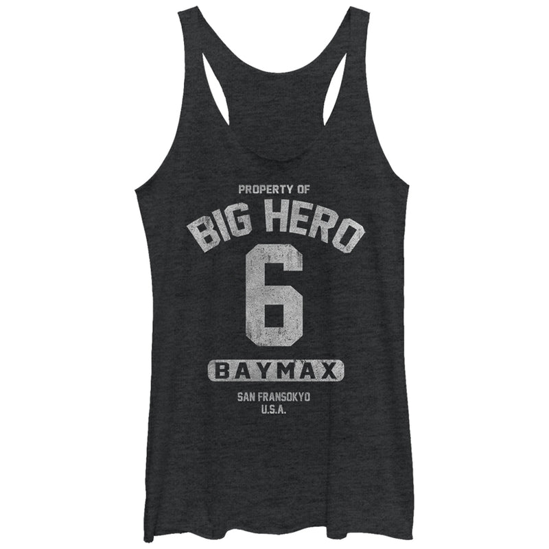 Big Hero 6 Property Baymax Womens Graphic Racerback Tank