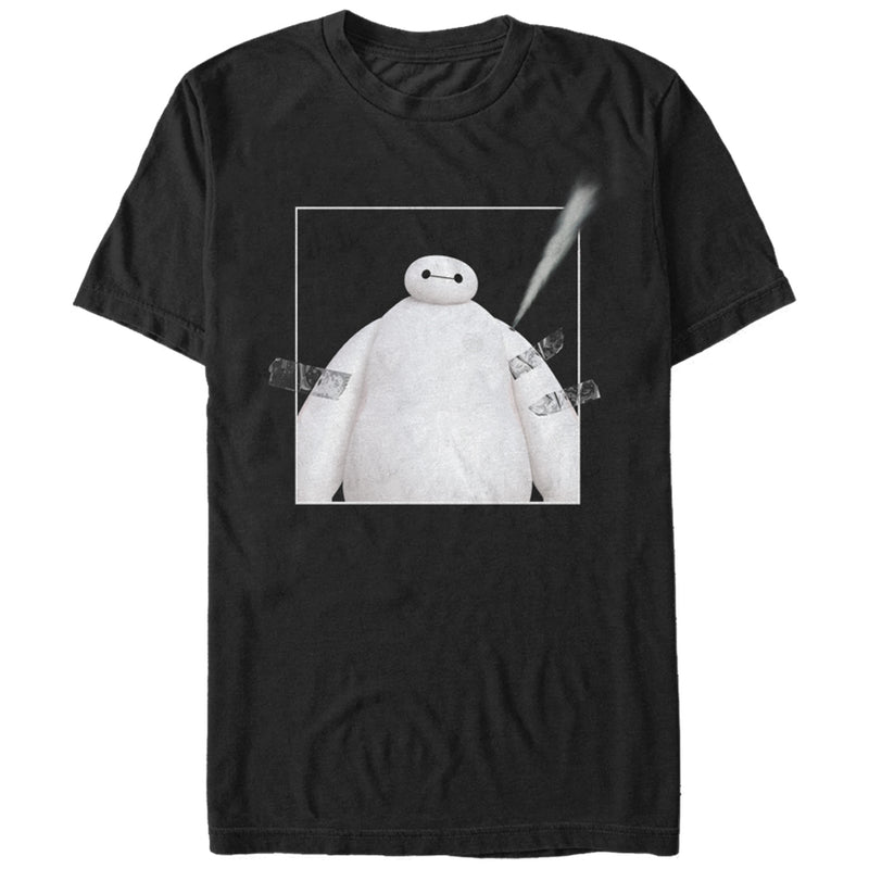 Big Hero 6 Men's Baymax Taped  T-Shirt  Black  L