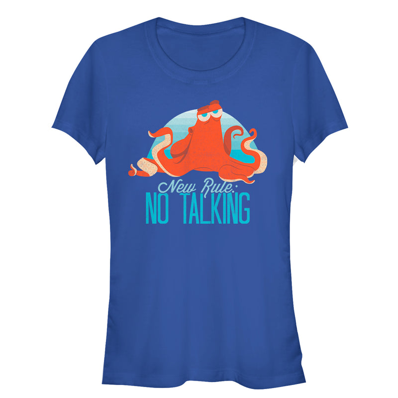 Finding Dory Hank No Talking Rule Juniors Graphic T Shirt