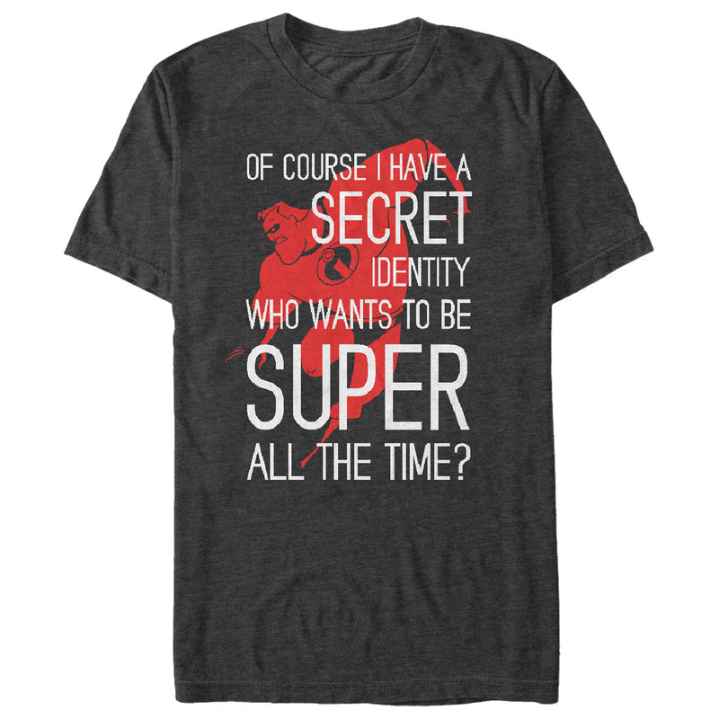 The Incredibles Secret Identity Mens Graphic T Shirt