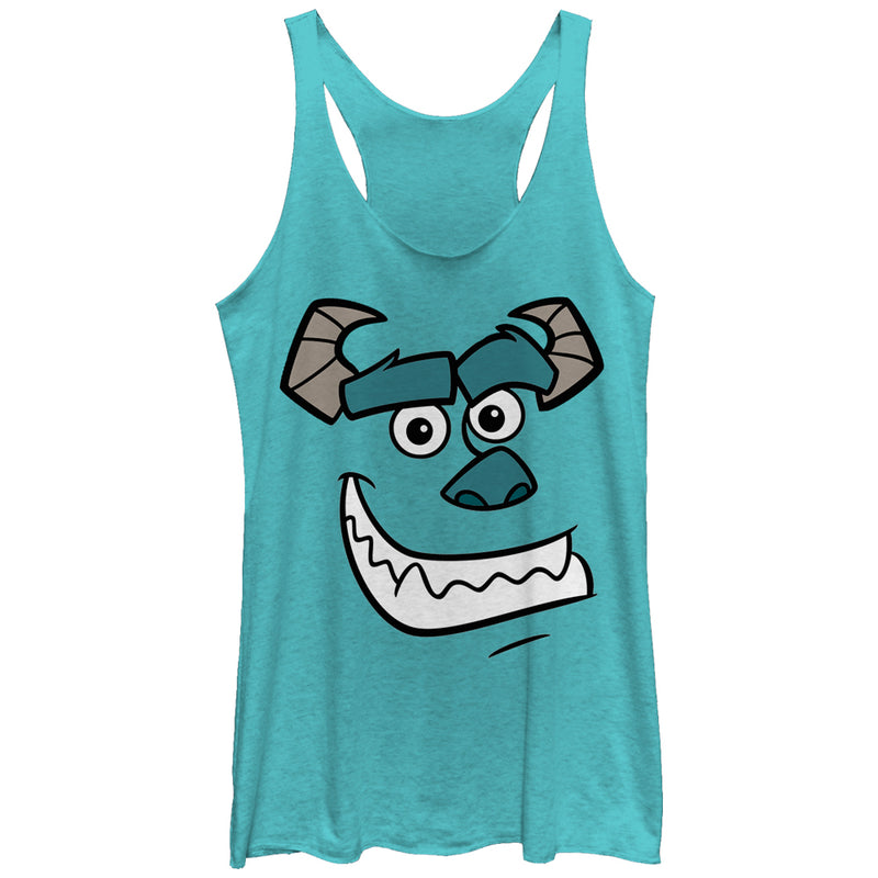 Monsters Inc Sulley Face Womens Graphic Racerback Tank
