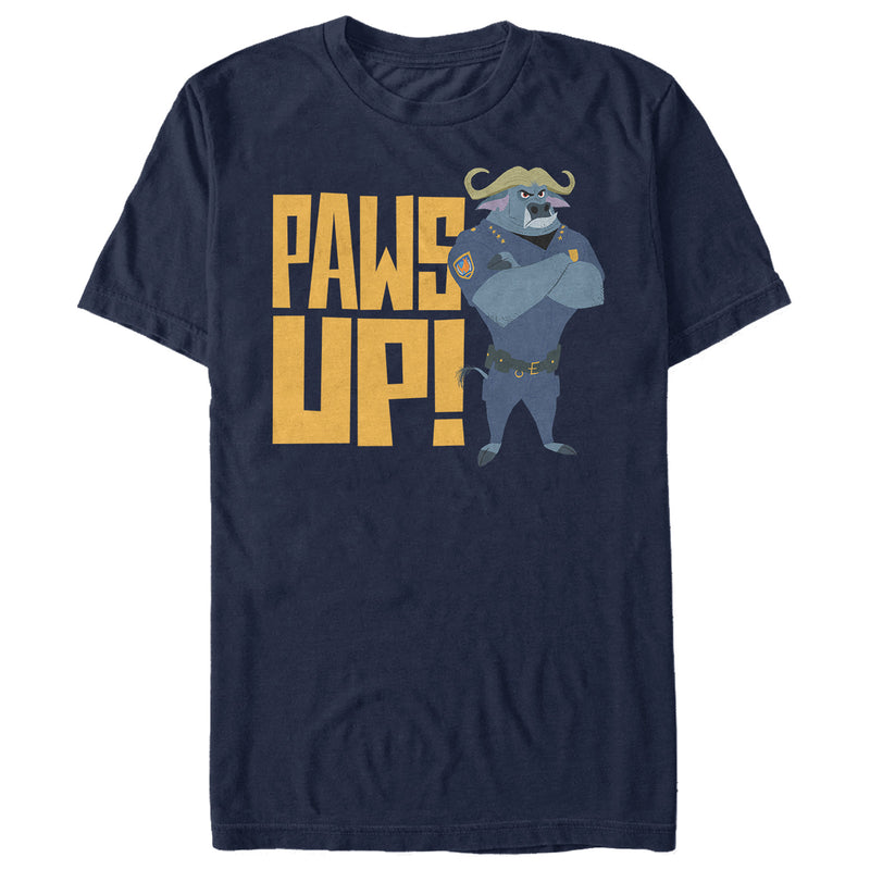 Zootopia Chief Bogo Paws Up Mens Graphic T Shirt