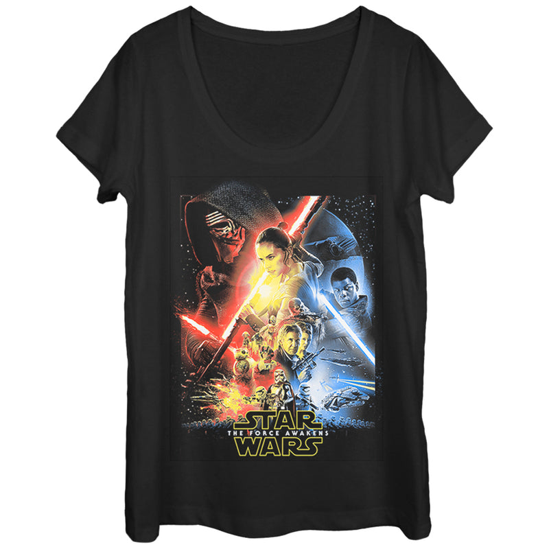Star Wars Episode VII Cool Poster Womens Graphic Scoop Neck