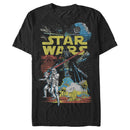Star Wars Men's Galactic Battle  T Shirt Black 4XL