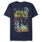 Star Wars Men's Galactic Battle  T Shirt Navy Blue 2XL